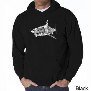 LA Pop Art Men's Sharks hoodie sweatshirt M black